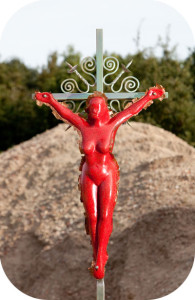 Vrouw aan kruis